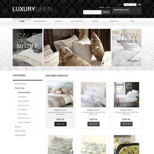 Luxury Linen  - HTML5 ZenCart Template