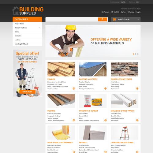 Building Supplies - Responsive Magento Template