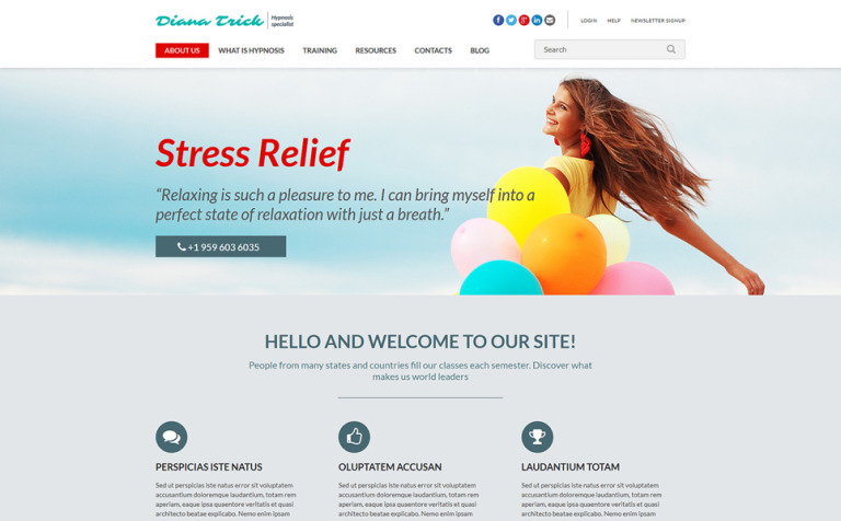 Hypnosis Therapy Joomla Template