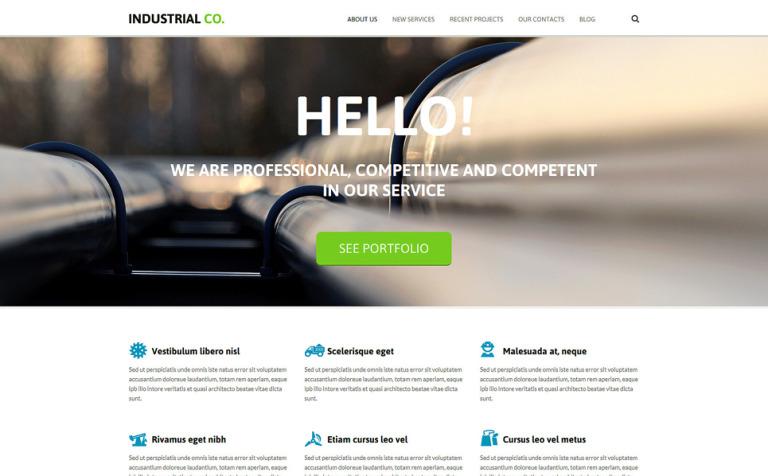 Industrial Template Joomla Template