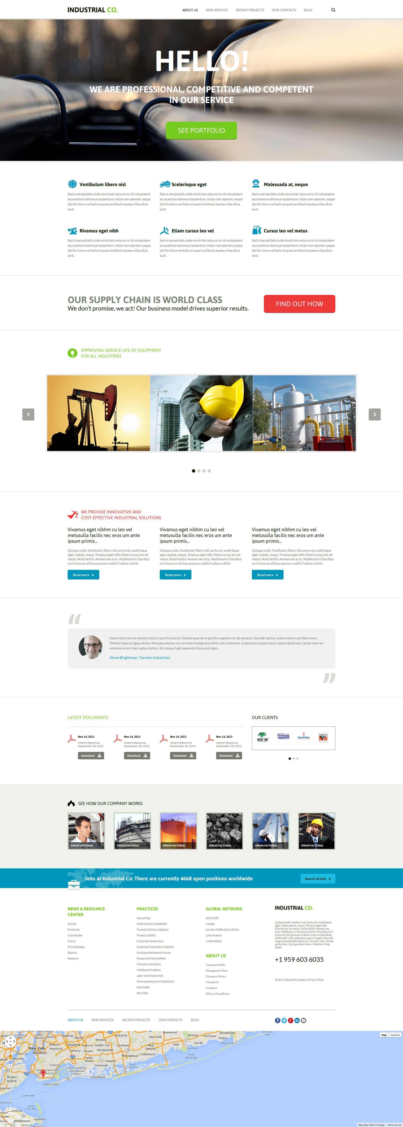Industrial Template Joomla Template - screenshot