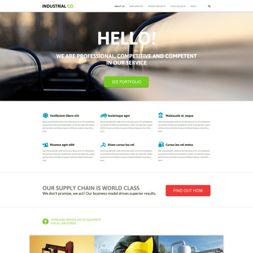 Industrial Co. - Industrial Company Template based on Bootstrap