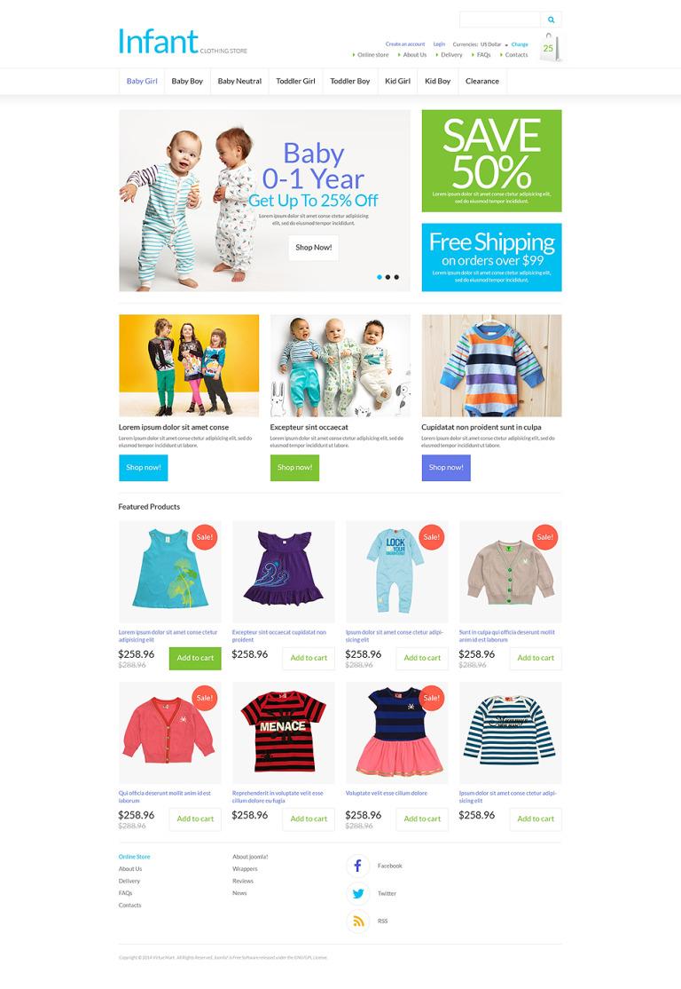 Infant Clothing Store VirtueMart Template New Screenshots BIG