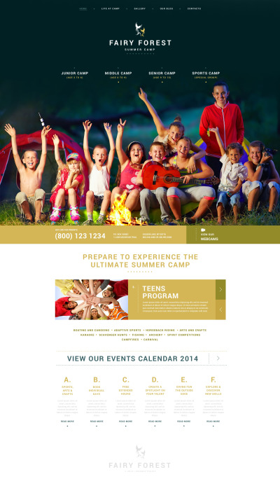 Summer Camp Responsive WordPress шаблон