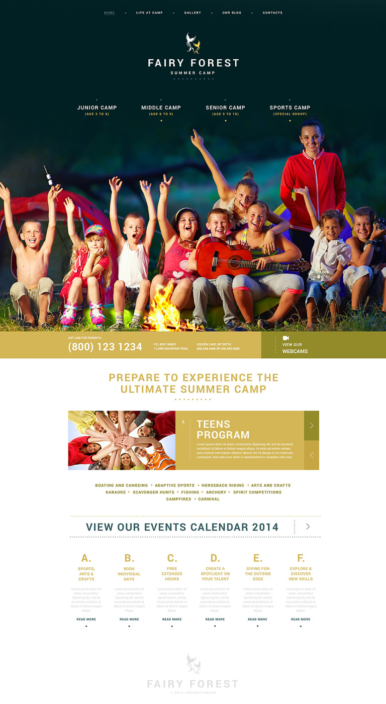 Kids Summer Camps WordPress Theme New Screenshots BIG