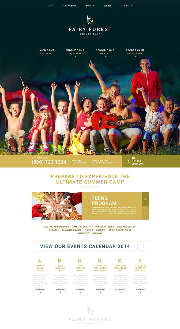 Kids Summer Camps WordPress Theme New Screenshots BIG