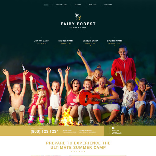Fairy Forest Summer Camp - WordPress Template based on Bootstrap