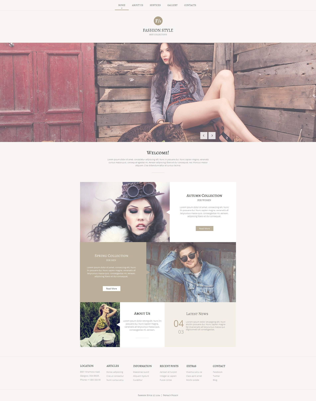 Modèle Moto CMS HTML Premium pour fashion blog #51066