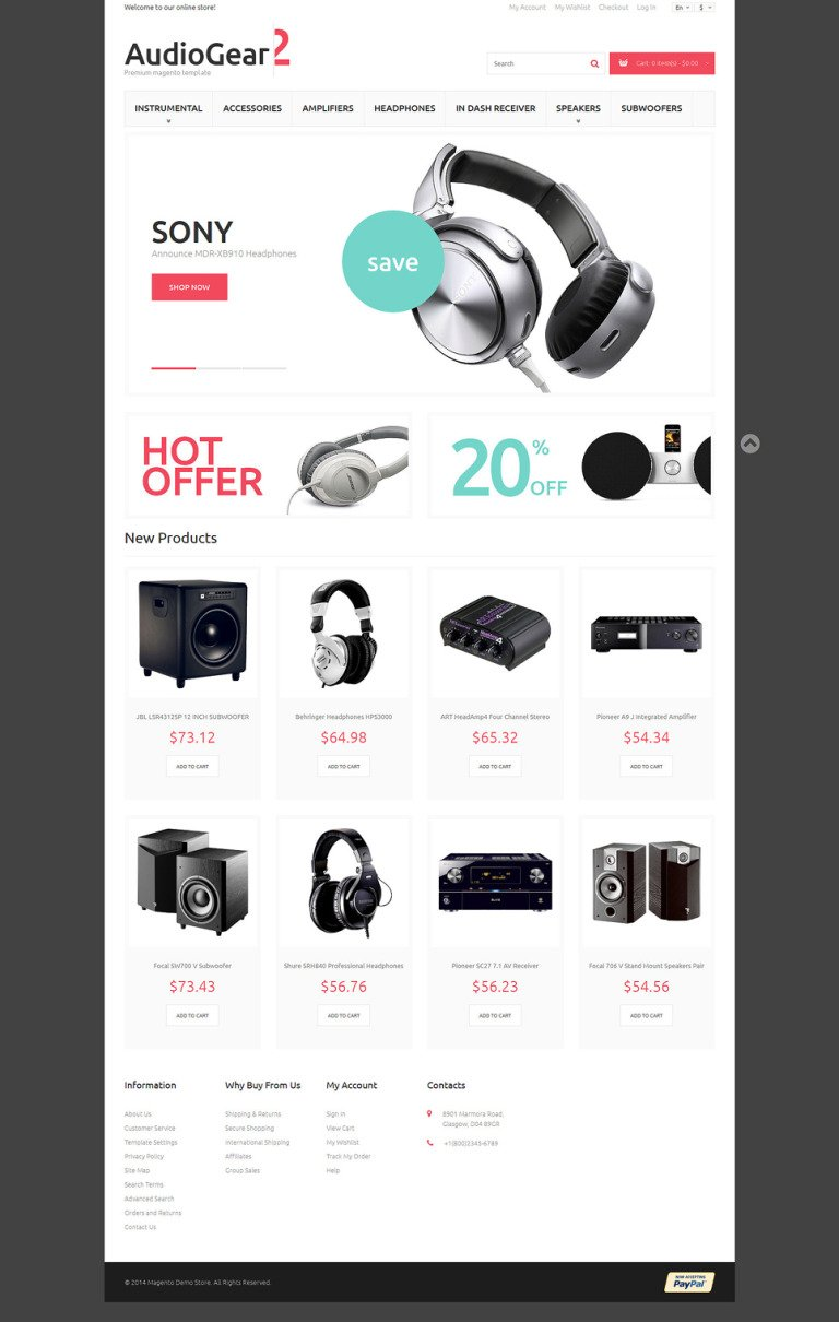 Music Playing Gear Magento Theme New Screenshots BIG