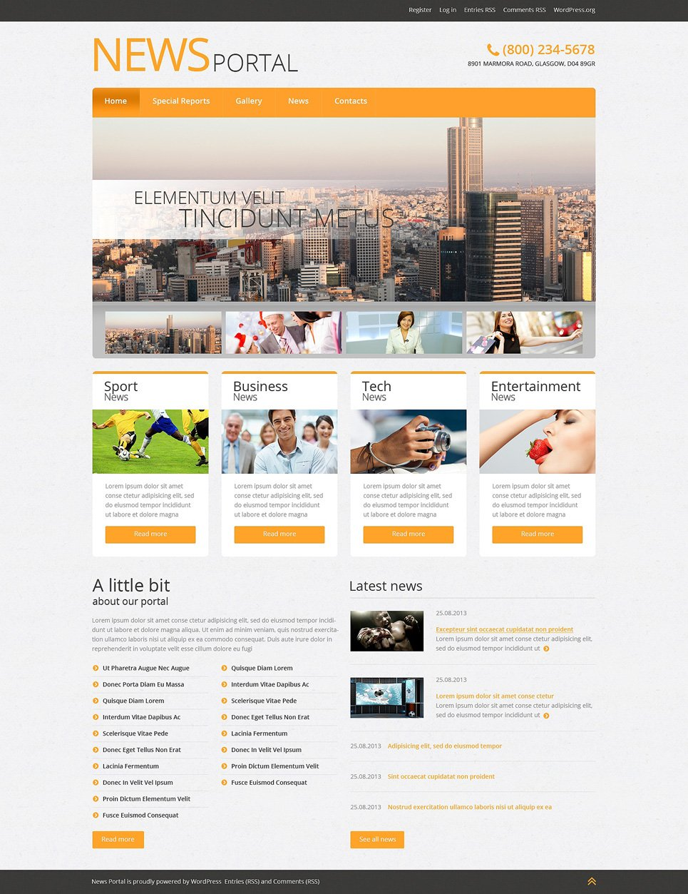 convert html template to wordpress theme online - news portal responsive wordpress theme 51042