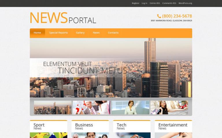 News Portal Responsive WordPress Theme #51042