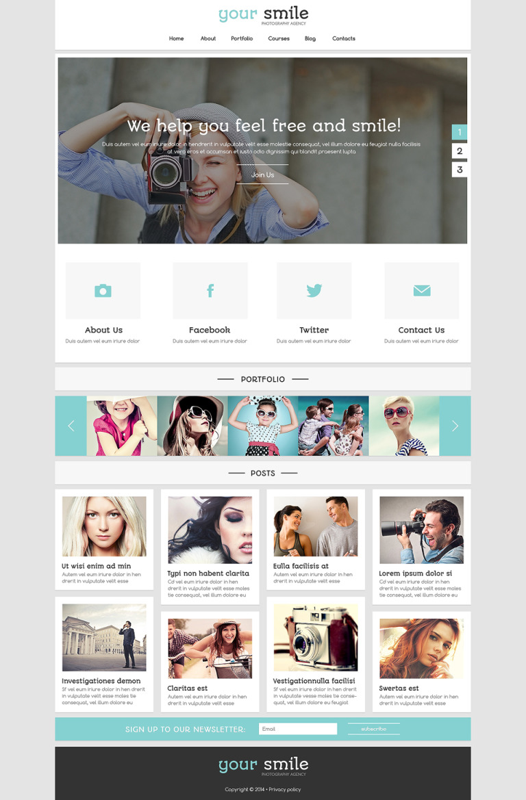 Online Portfolio Joomla Template New Screenshots BIG