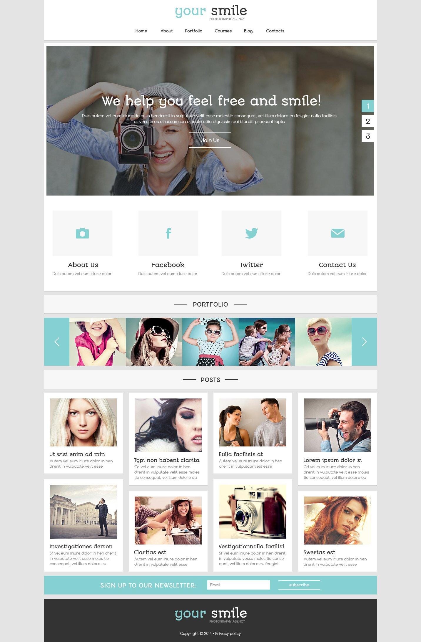Online Portfolio Joomla Template - screenshot