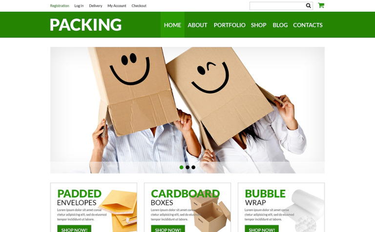 Packing Company eStore WooCommerce Theme