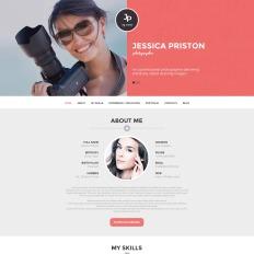 photographer cv responsive wordpress - Wordpress Resume Template