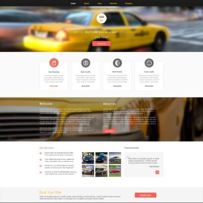 Plantilla Web #51077 para Sitio de Taxi