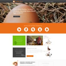 Poultry farm website templates.