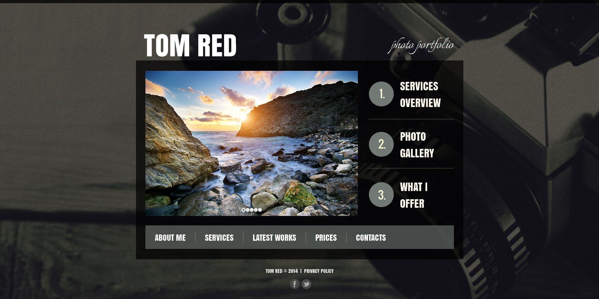Prémium Fényképész portfóliók témakörű Fényképgaléria sablon 51063