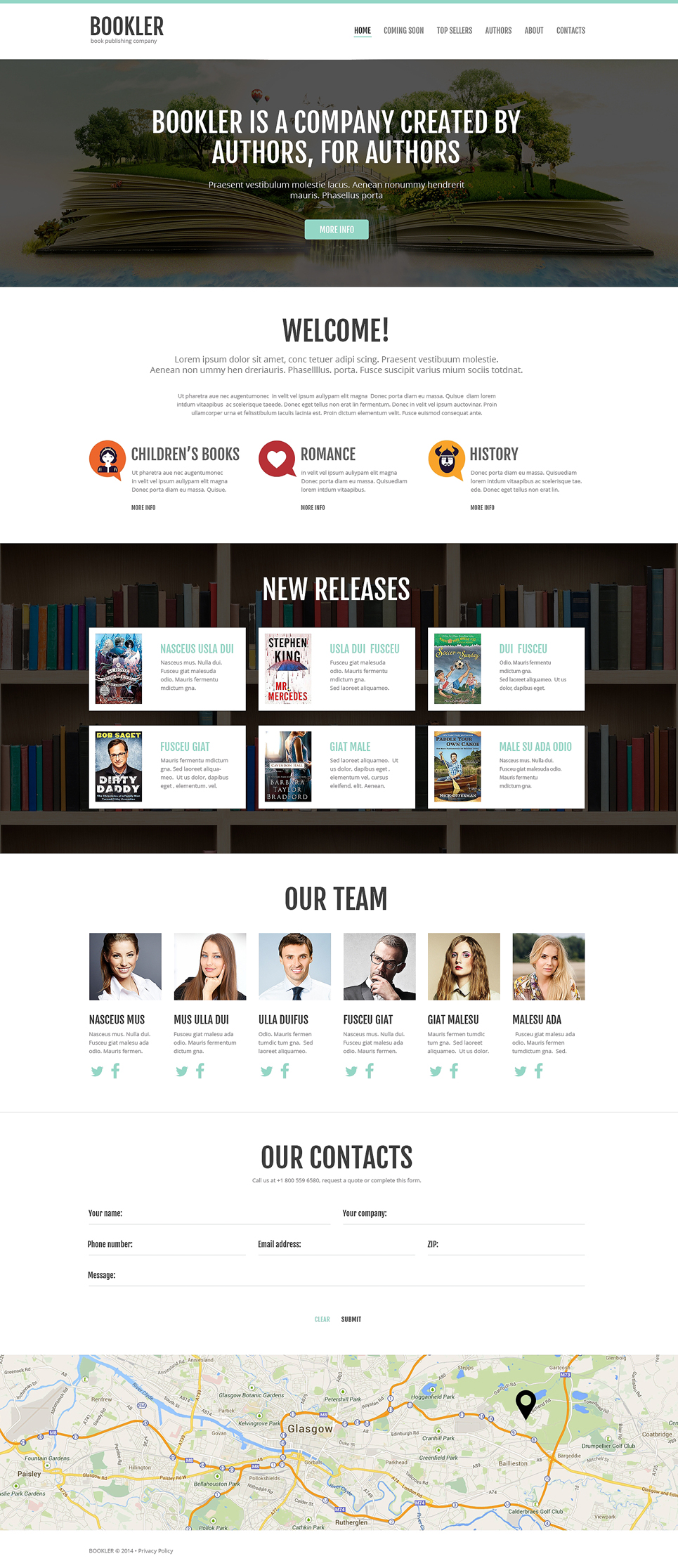 Publishing company responsive website template 51046 for Publisher website templates