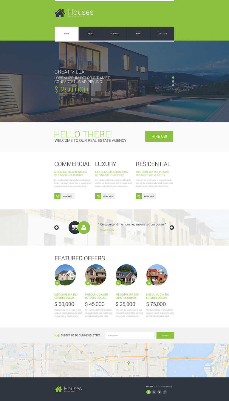 Real Estate Agency Responsive Website Template New Screenshots BIG