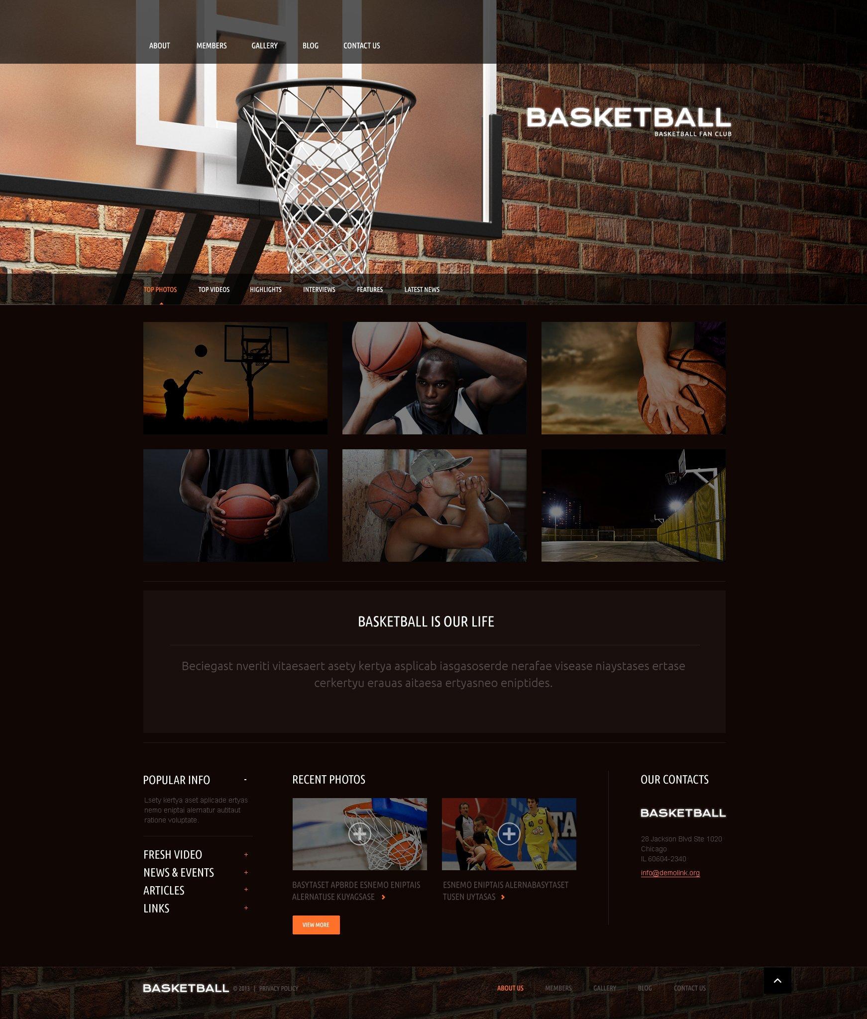 Responsive Basketbol Wordpress #51087