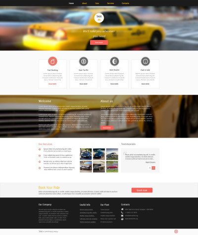 Taxi Responsive Website Template