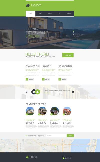 Responsive Website Vorlage für Immobilienagentur