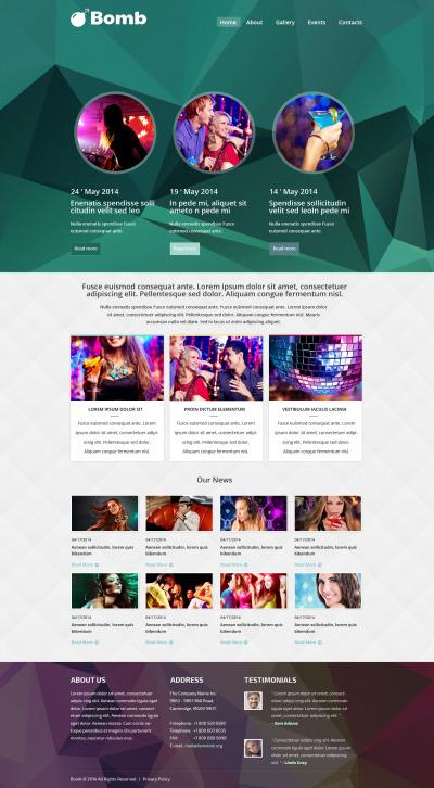 Responsive Website Vorlage für Nachtclub