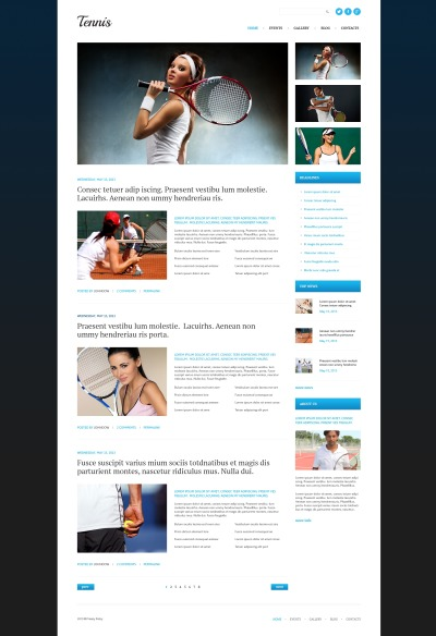 Responsives WordPress Theme für Tennis