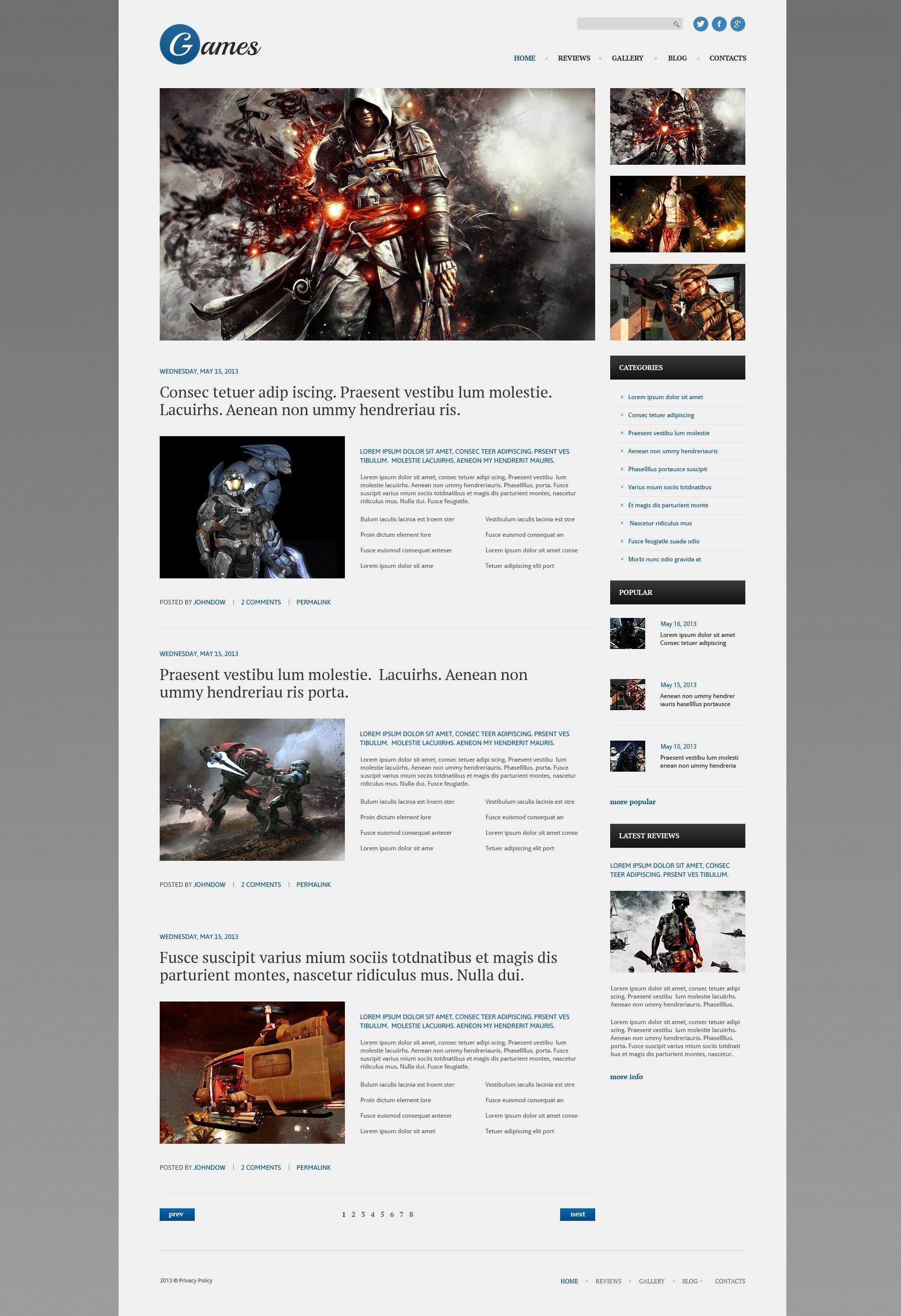 Responsivt WordPress-tema #51079