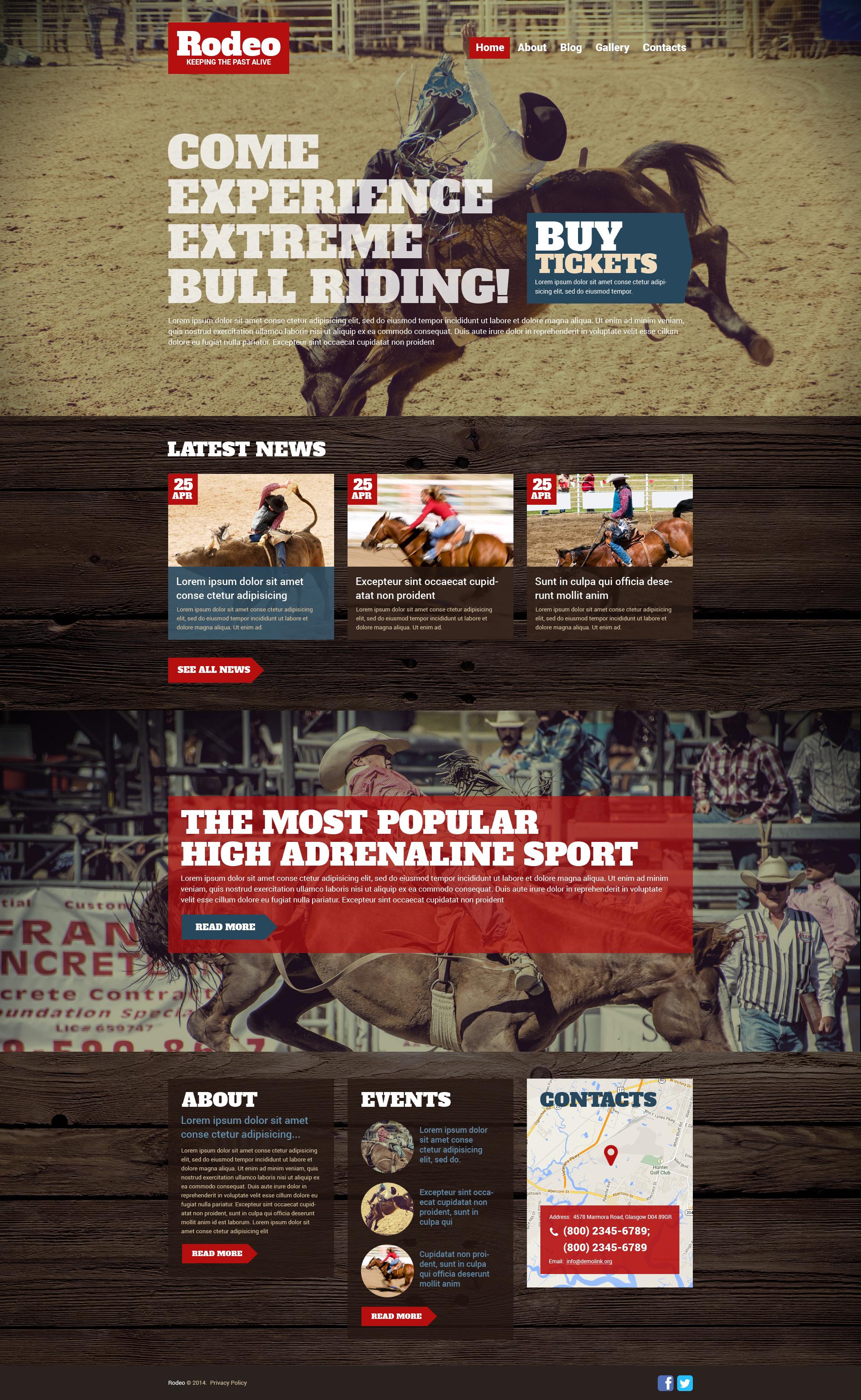 """Responzivní WordPress motiv """"Rodeo"""" #51027"""