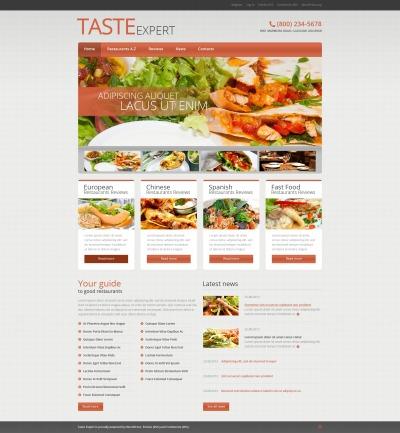 European Restaurant Responsive WordPress Sablon