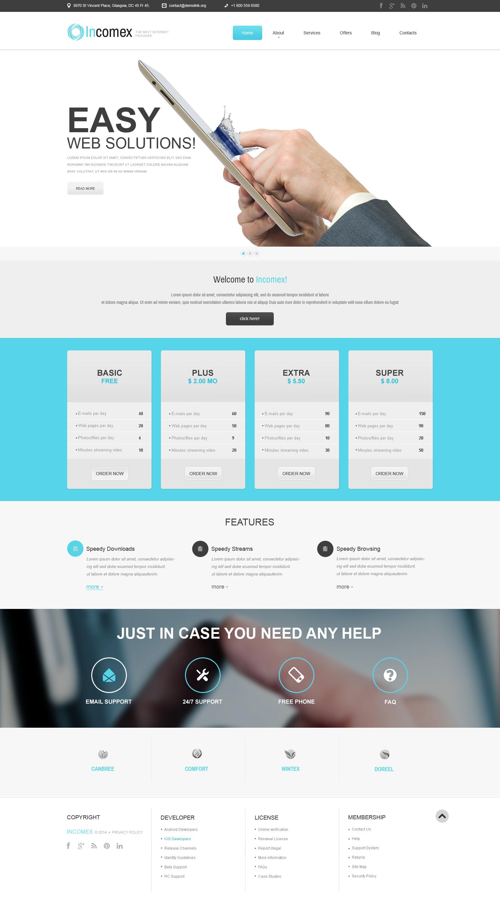 Reszponzív Internet WordPress sablon 51083 - képernyőkép