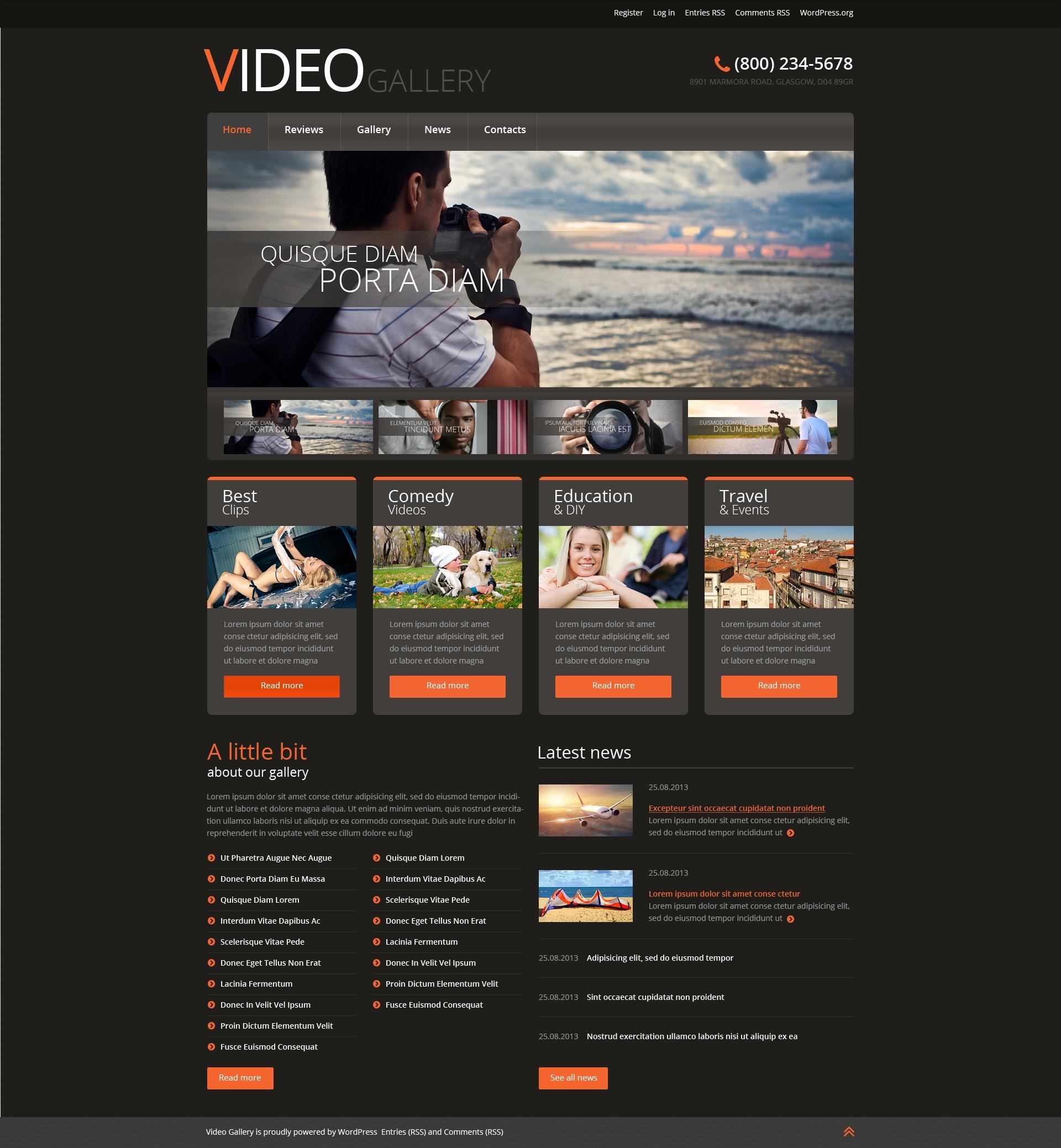 Reszponzív Videóstúdió WordPress sablon 51044