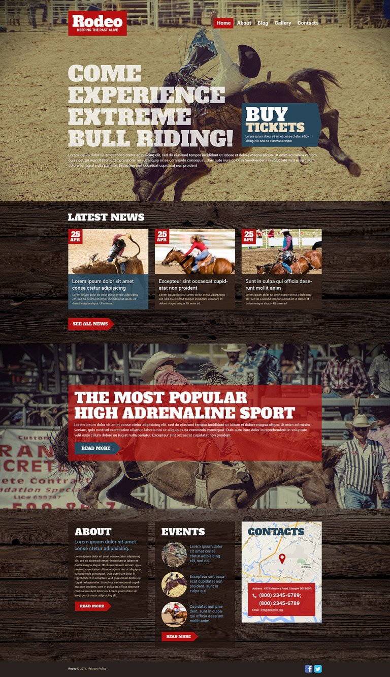 Rodeo WordPress Theme New Screenshots BIG