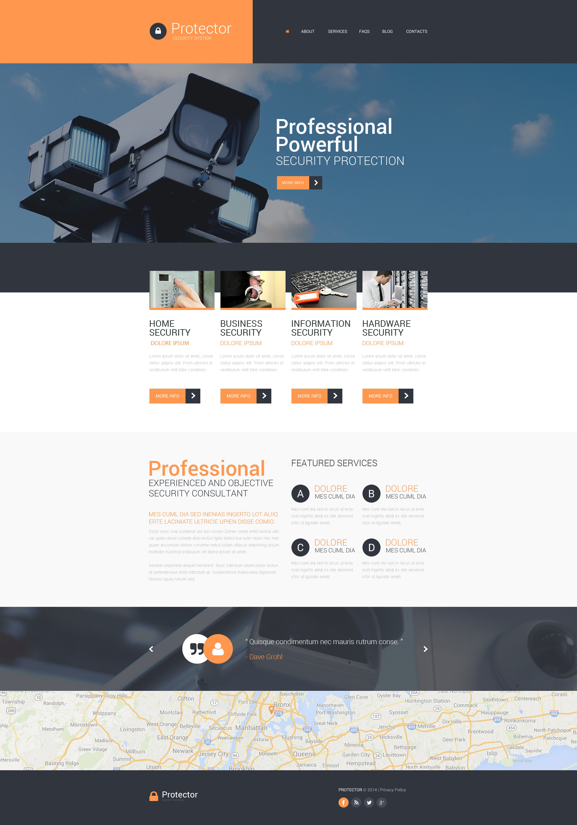 Security Responsive Website Template - screenshot