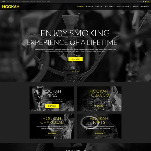 Hookah - OpenCart Template based on Bootstrap