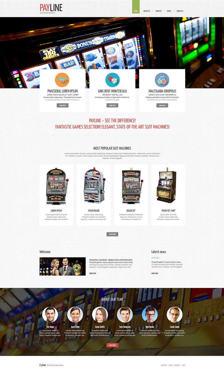 Slot Machines Responsive Website Template New Screenshots BIG