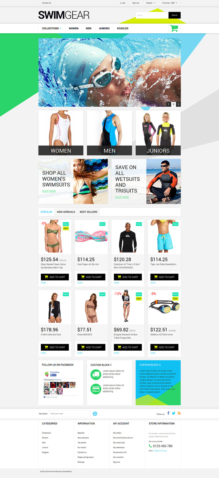 Swimwear Store PrestaShop Theme New Screenshots BIG