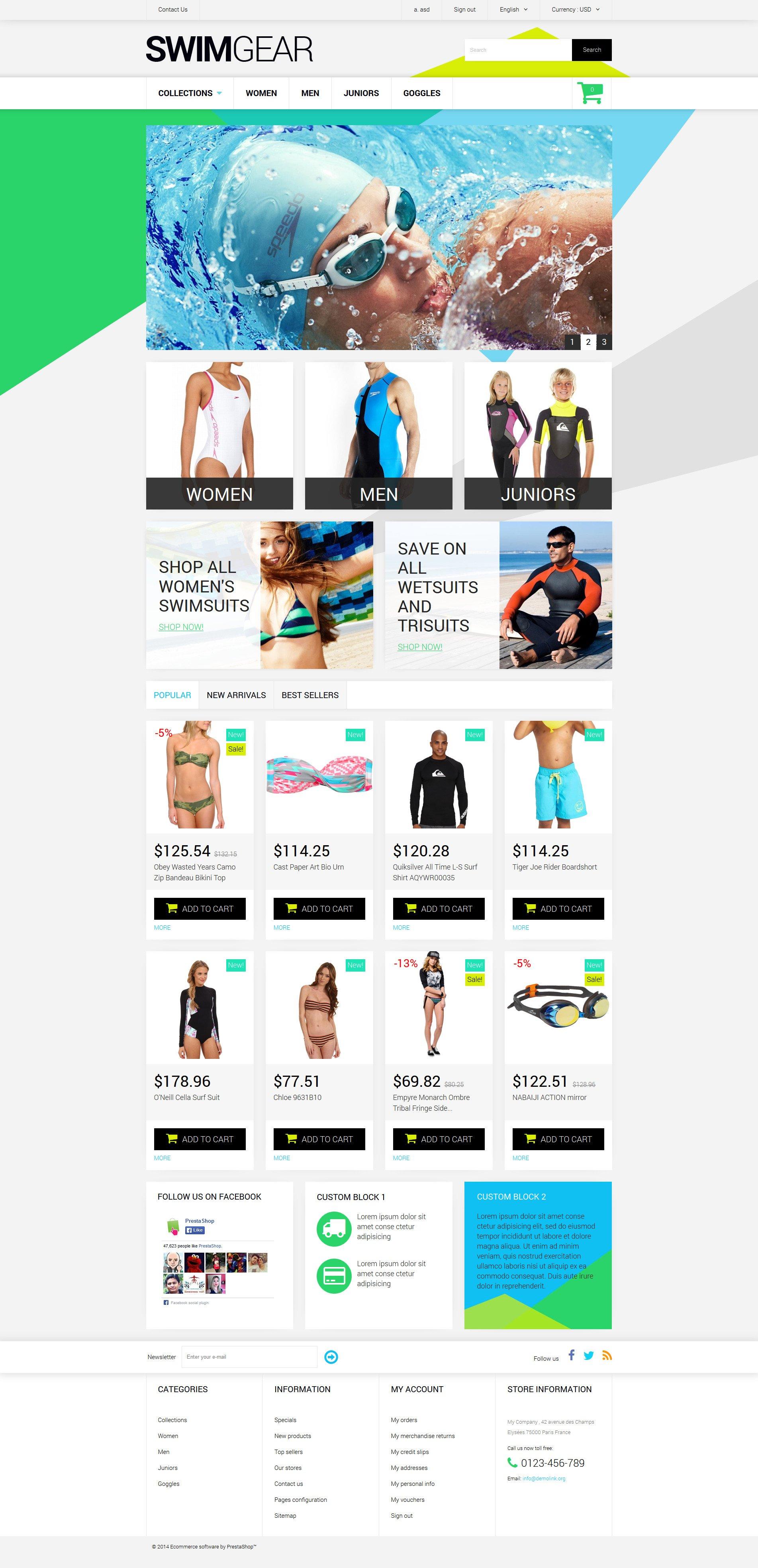 Swimwear Store PrestaShop Theme