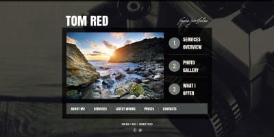 Szablon Galerii Zdjęć #51063 na temat: portfolio fotograficzne