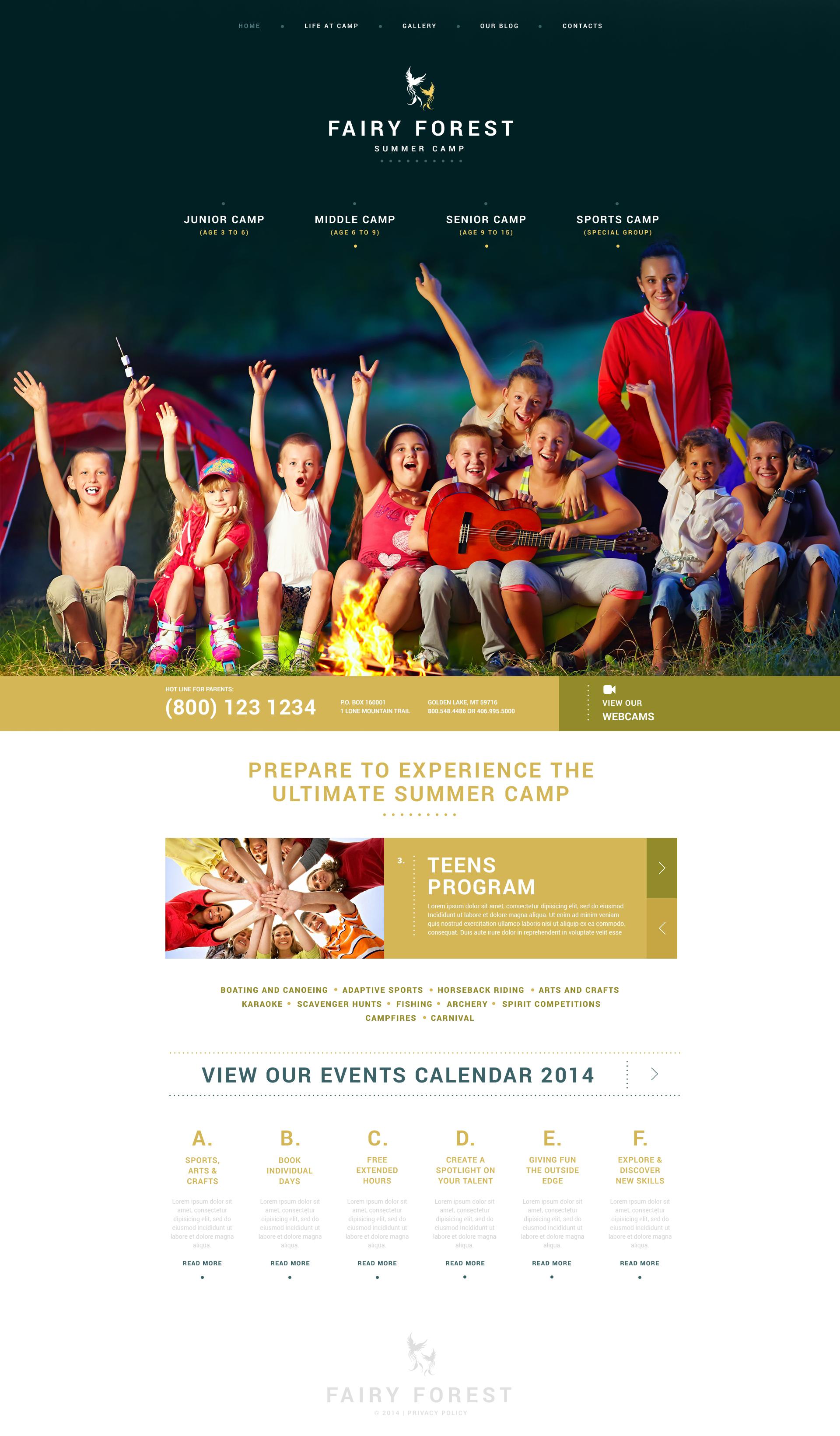 "Tema De WordPress ""Kids Summer Camps"" #51029"