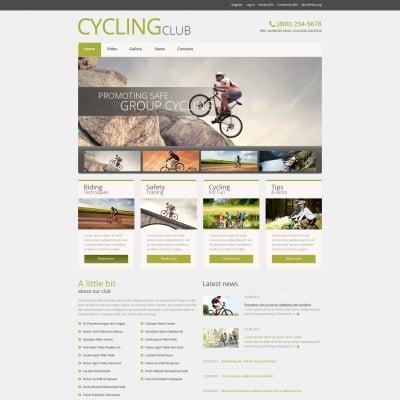 Tema de WordPress #51043 para Sitio de Ciclismo