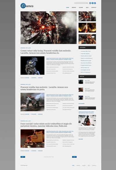 Responsive Tema De WordPress #51079 para Sitio de  para Sitio de Juegos