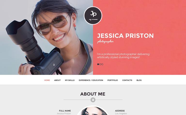 Tema de WordPress para Sitio de Portafolios de fotógrafos