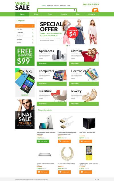 Tema WooCommerce para Sitio de Tienda de Electrónica #51051