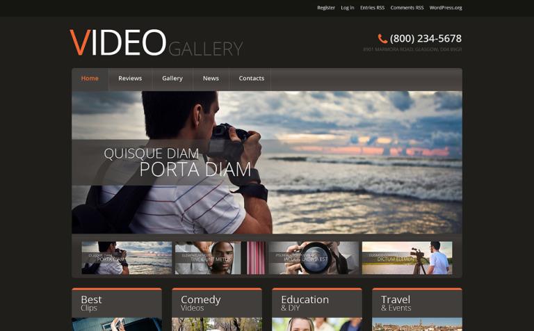Tema WordPress Flexível para Sites de Laboratorio de Vídeo №51044