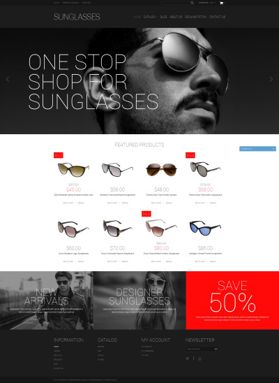 Eye Glasses Responsive Tema Shopify