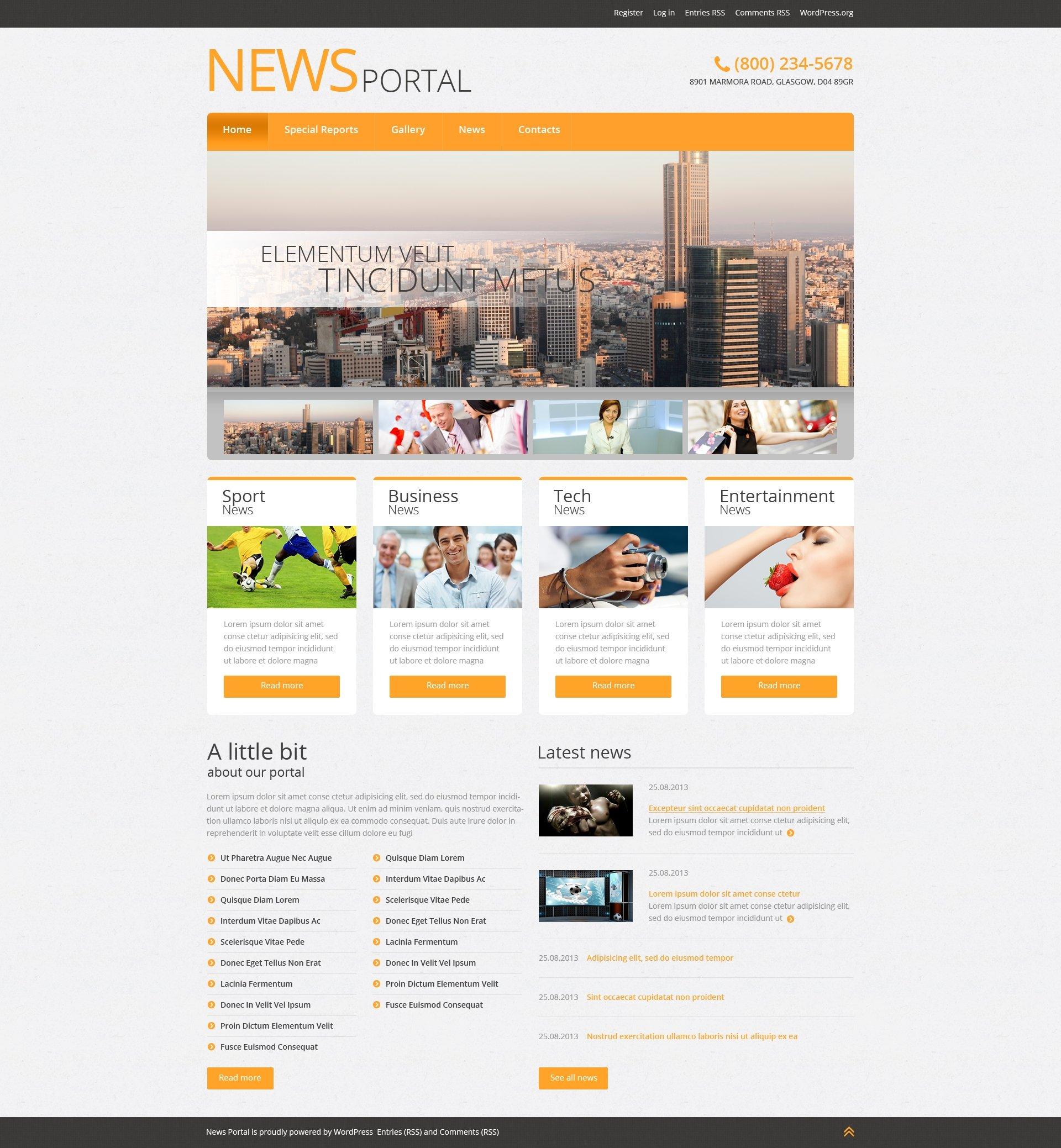 Thème WordPress adaptatif pour site de nouvelles #51042