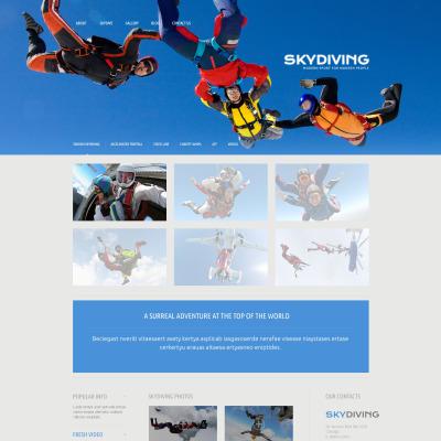 Thème WordPress adaptatif  pour sites de parachutisme